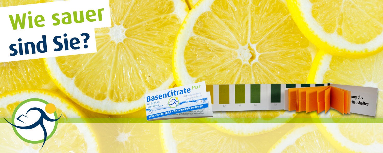 Wie sauer sind Sie? BasenCitrate Pur Säuretest Teststreifen und Zitronen