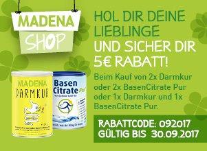 Banner MADENA Shop Septemberaktion